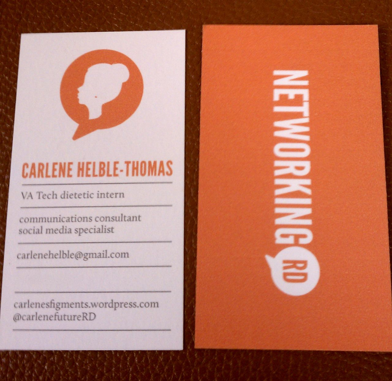 How to have a successful dietetic conference experience for Successful business cards